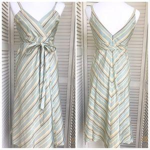 Banana Republic Silk Dress with Tie Waist Sz 6